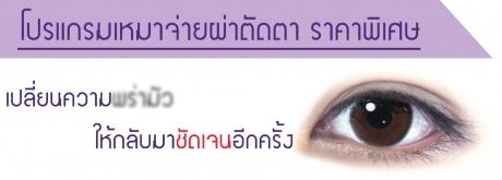 โปรแกรมเหมาจ่ายผ่าตัดตา
