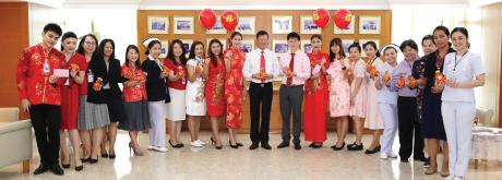 โรงพยาบาลเกษมราษฎร์ ประชาชื่น ได้จัดกิจกรรมเนื่องในวันตรุษจีน