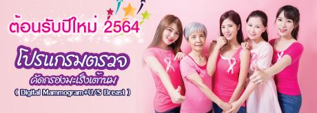 โปรแกรมตรวจคัดกรองมะเร็งเต้านม ( Digital Mammogram+U/S Breast)