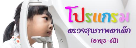 โปรแกรมตรวจสุขภาพตาเด็ก (อายุ 3-6 ปี)