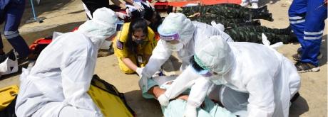 โรงพยาบาลเกษมราษฎร์ ศรีบุรินทร์  จัดการซ้อมแผนอุบัติเหตุหมู่ ประจำปี 2564
