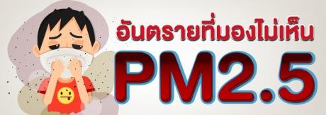 PM2.5 อันตรายที่มองไม่เห็น